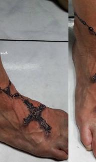 Rosary anklet