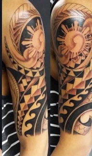 Abstract polynesian tribal