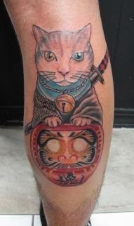 Samurai cat/ Daruma