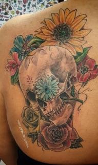 Sugar skull /Flowers